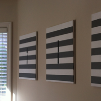 striped canvas wall art
