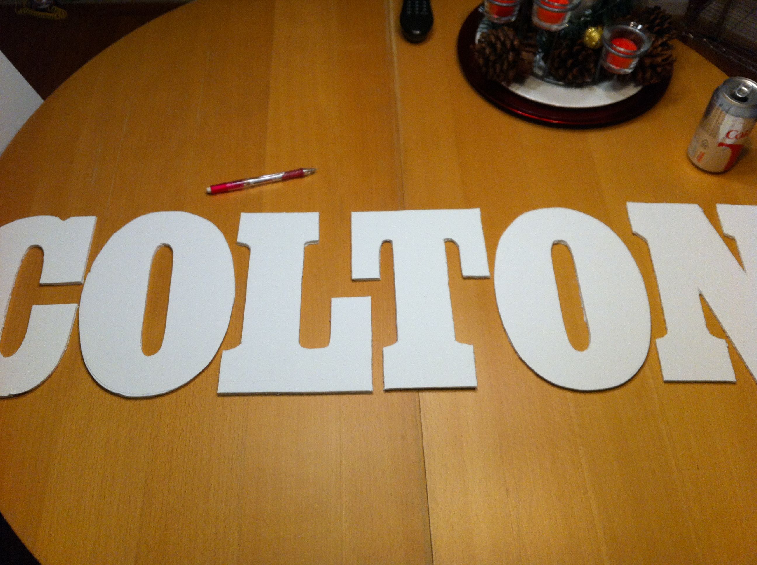 Step 3 laying letters out