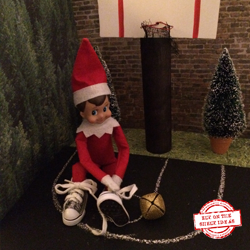 """Basketball"" Elf. Templates and Step-by-Step Tutorial for creating this elf theme. Love the shoes! Tons of elf ideas on our site 