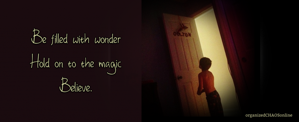 Be filled with wonder. Hold on to the magic. Believe.