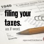 Filing Your Taxes, an F-word [organizedCHAOSonline]