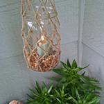 DIY Challenge: Knot-ical Outdoor Candles | organizedCHAOSonline