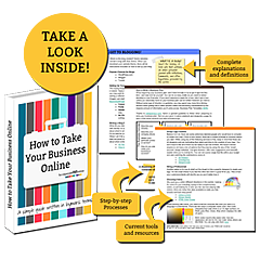 How to Take your Business Online eBook|by organizedCHAOSonline