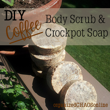 DIY Crockpot Coffee Soap and Body Scrub | organizedCHAOSonline