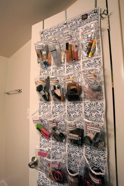 25 Ways To Use A Shoe Organizer | Organized CHAOS Online. Makeup
