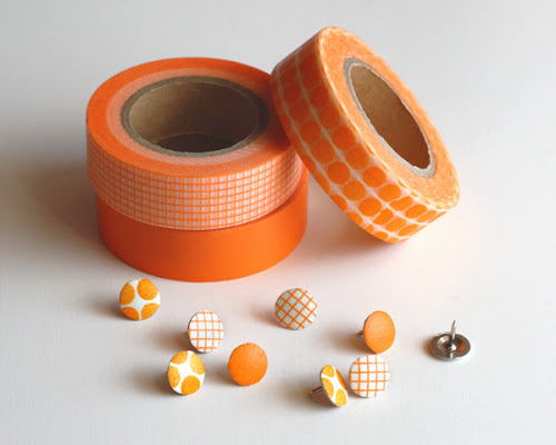 Washi Thumbtacks Source: How About Orange