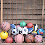 Use Bungee Cords for Ball Storage