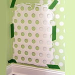 Use Laundry Basket to Paint Polka Dots