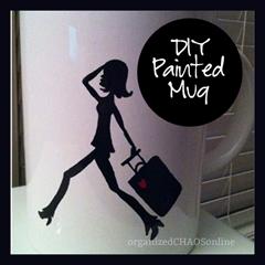 DIY painted mug | organizedCHAOSonline