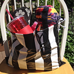 Easy DIY Waterproof Striped Beach Bag
