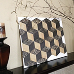 "DIY ""Tumbling Blocks"" Wall Art"