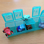 Use Pill Organizer to Store Mini Cars