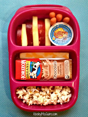 carrots fruit popcorn school lunch - organizedCHAOSonline