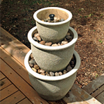 From Plant Pots to Outdoor Water Fountain {Step-by-Step Tutorial}