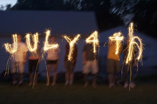 sparkler july 4