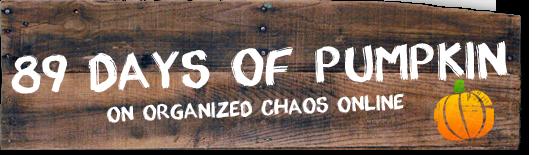 89 Days of Pumpkin on organizedCHAOSonline