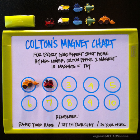 DIY reward magnet chart