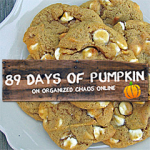Day 4: White Chocolate Pumpkin Spice Cookies