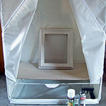 Use a Garment Bag For Spray Painting