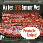 Easy Baby Back Ribs, Crockpot Baked Beans, and…Dessert! {Printable Recipes}