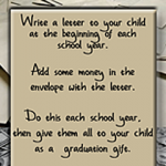 Write a Letter to Your Child For Graduation