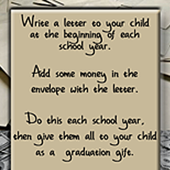 How to write a graduation letter to my son