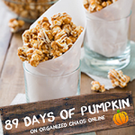 Day 17: Pumpkin Pie Spice Popcorn with White Caramel