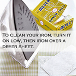 Clean Your Iron with a Dryer Sheet
