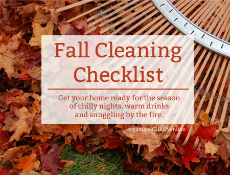 fall cleaning checklist | organized chaos online