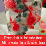 Freeze Fruit in Ice Cube Trays