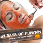 Day 10: Pumpkin Face Mask