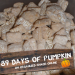 "Day 11: Pumpkin ""Puppy Chow"" Snack"