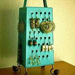 Use a Cheese Grater for an Earring Holder