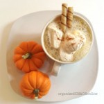 pumpkin spice hot white chocolate | organized chaos online