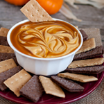 Day 35: 5-Minute Pumpkin Pie Dip with Caramel Swirl