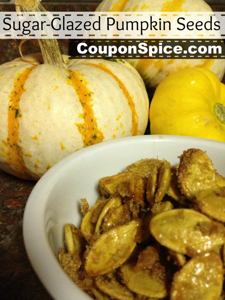 Sugar Glazed Pumpkin Seeds by Coupon Spice