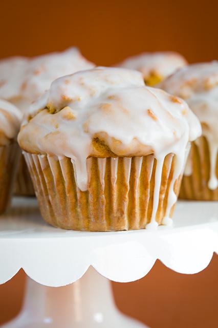 Pumpkin Doughnut Muffins with Vanilla Glaze   89 Days of Pumpkin on organizedCHAOSonline
