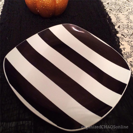 striped sharpie plate | organized chaos online