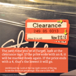 How to read the Target Clearance tags | TIP OF THE DAY on organizedCHAOSonline