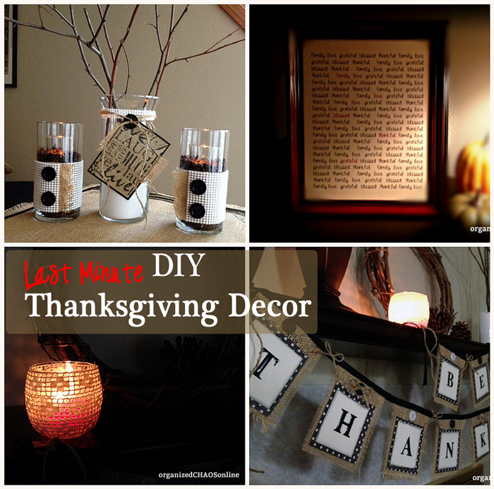 Easy Last Minute DIY Thanksgiving Decor: Burlap, Duct Tape and Shelf Liner