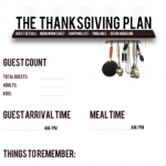 Free Printable: The Thanksgiving Plan