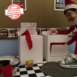 Laundry Day Elf | Elf on the Shelf Ideas by organizedCHAOSonline