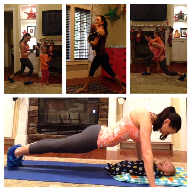 Coral's workout with kids