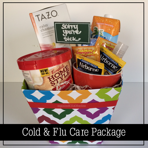cold and flu care package | organized chaos online