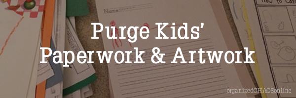 kids paperwork purge banner