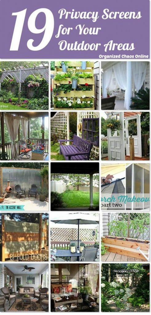 Outdoor Privacy Screen Ideas | organizedchaosonline.com