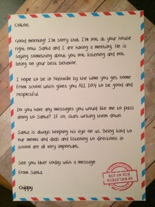 Letter From Elf To Naughty Kid Free Printable