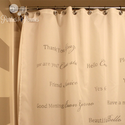 6 diy shower curtain ideas organizedchaosonline for Why does my shower curtain turn pink