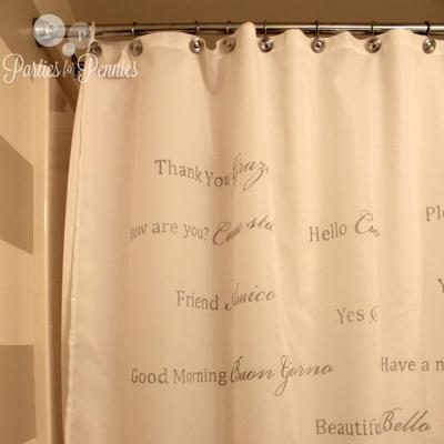 6 diy shower curtain ideas organizedchaosonline. Black Bedroom Furniture Sets. Home Design Ideas