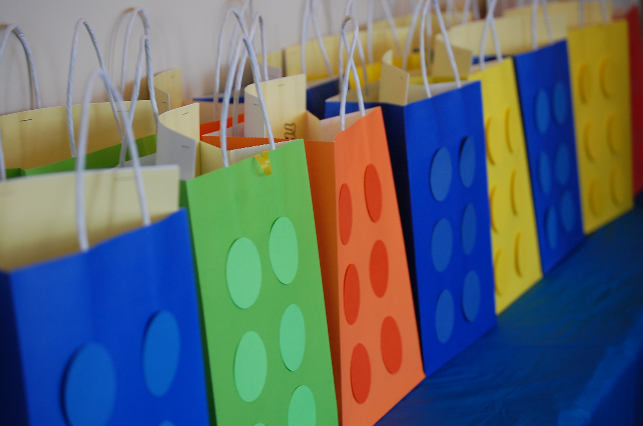 Diy Lego Party Gift Bags